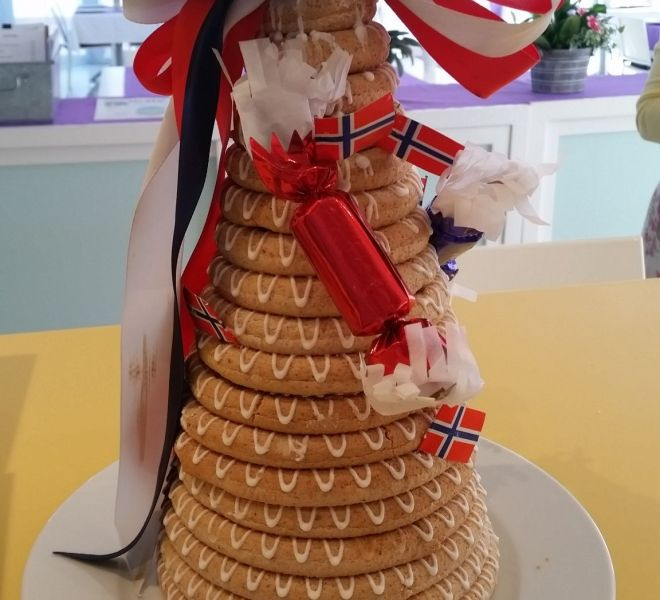 Tarta de navidad noruega