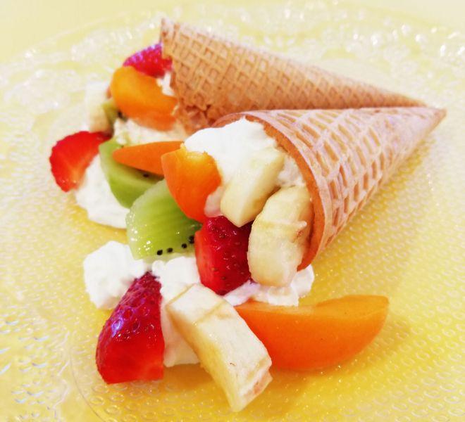 Cono de frutas